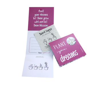 Plant your dreams – wenskaart (fullcolour)