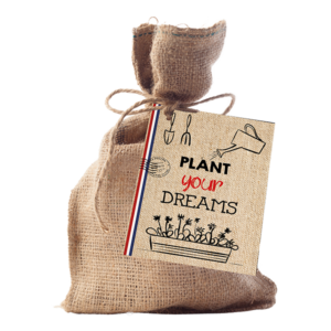 Post – Plant your Dreams (Jute A6 Touwtje)