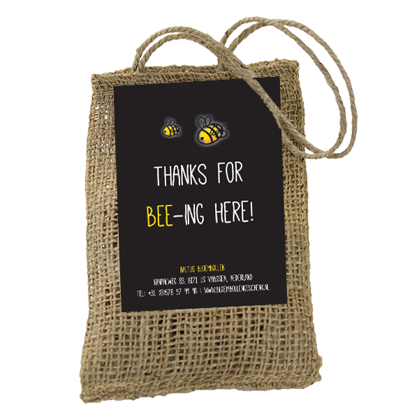 Thanks for bee-ing here (Jute A7)