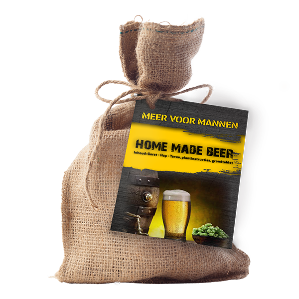 Mannen – Home made Beer (Jute A6 Touwtje)